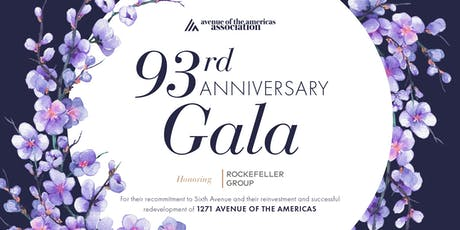 Avenue of the Americas 93rd Anniversary Gala Honoring Rockefeller Group tickets