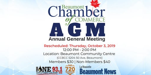 Beaumont Chamber of Commerce 2018 Annual General Meeting