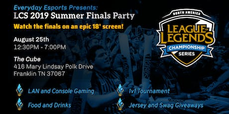 League of Legends LCS Summer Finals Party tickets