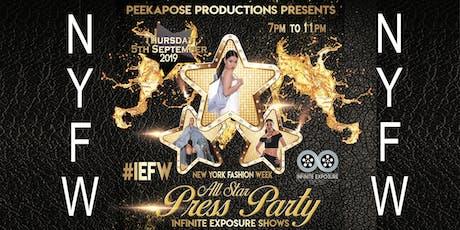 IEFW Press Party - New York Fashion Week tickets