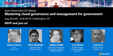 Azure Gov DC Meetup: Mastering cloud governance and management for gov tickets