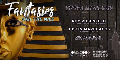Fantasies Boat Party NYC | Sail The Nile: Roy Rosenfeld, Justin Marchacos