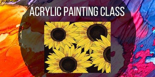 Acrylic Painting for Kids - Sunflower Art