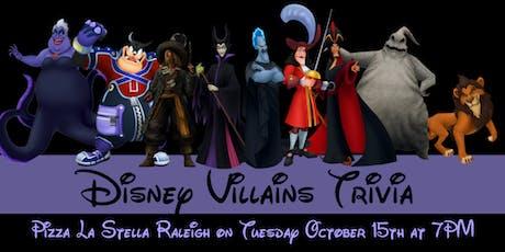 Disney Villains Trivia at Pizza La Stella Raleigh tickets