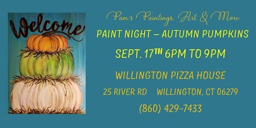 Paint Night - Autumn Pumpkins