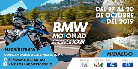 XXIII Convención Internacional BMW Motoclubes México, A. C. 2019 boletos