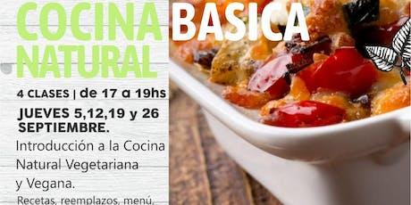TALLER - Introducción a la COCINA Natural VEGETARIANA y VEGANA - 4 clases entradas