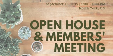 CWS Open House & Members' Meeting - Sept 15 tickets