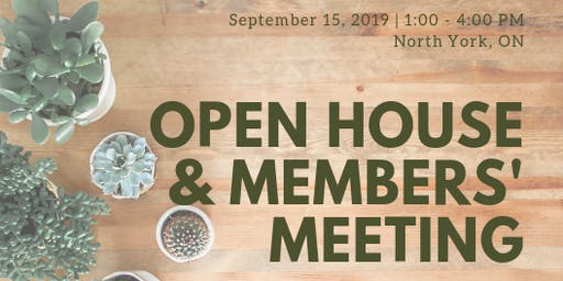 CWS Open House & Members' Meeting - Sept 15