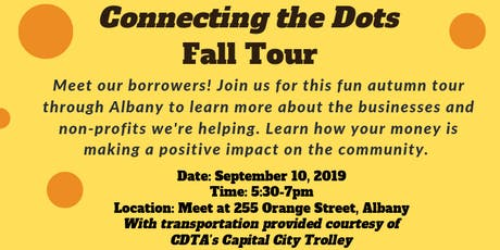 Community Loan Fund of the Capital Region: Connecting the Dots Fall Tour tickets