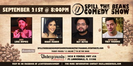 Spill the Beans Stand Up Comedy Show- Trey Maddox tickets