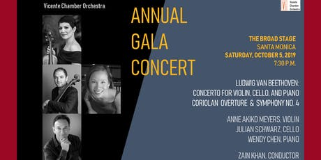Vicente Chamber Orchestra Annual Gala Concert at the Broad Stage tickets