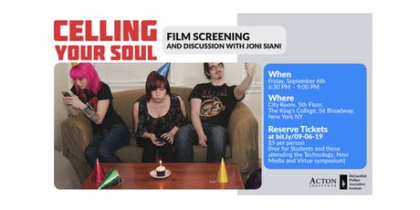 Celling Your Soul |  Film Screening + Discussion with Joni Siani tickets