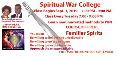SPIRITUAL WAR COLLEGE tickets