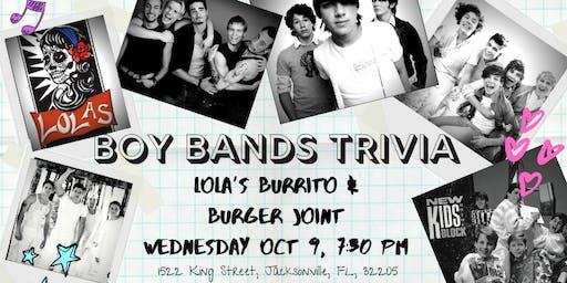 Boy Band Trivia at Lola's Burrito & Burger Joint