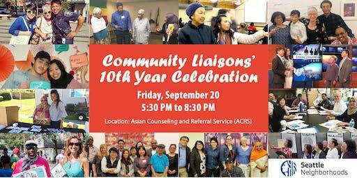 Community Liaisons' 10th Year Celebration