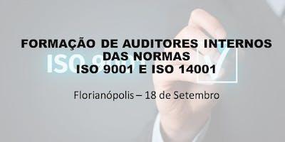 Curso: Auditor Interno das Normas ISO 9001 e ISO 14001