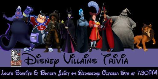Disney Villains Trivia at Lola's Burrito & Burger Joint