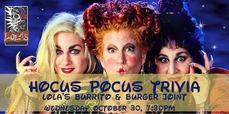 Hocus Pocus Trivia at Lola's Burrito & Burger Joint tickets