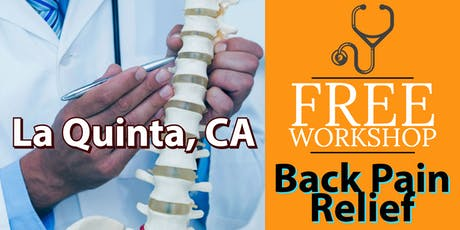 Free Back Pain Relief Brunch Workshop - La Quinta, CA tickets