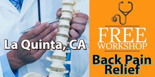 Free Back Pain Relief Brunch Workshop - La Quinta, CA