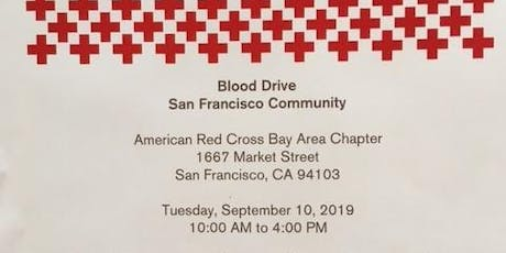 Red Cross-Blood Drive-Tues, Sept 10, 2019-San Francisco-10am-4pm tickets
