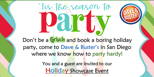 2019 Dave & Buster's  San Diego, CA  Holiday Showcase - Invitation Only Event