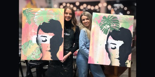 Young Audrey Paint and Sip Brisbane Day Session 26.10.19