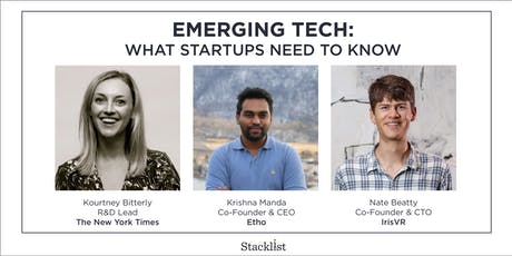 Emerging Tech: What Startups Need to Know tickets
