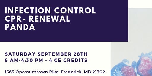 Washington/ Frederick County Dental Hygienists Saturday 9/28 CE Course 4CE