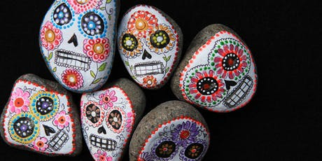 DAY OF THE DEAD SKULL ROCKS (painting) for 5-8 year olds tickets