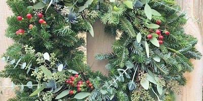 Pine & Pinot Wreath Workshop