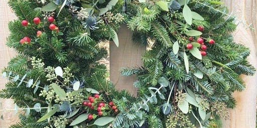 Pine & Pinot Wreath Workshop