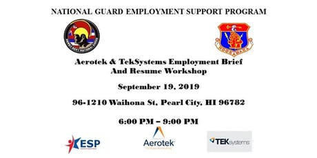Aerotek and TekSystems Employment Brief and Resume Workshop tickets