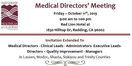 Partnership HealthPlan of California Medical Directors' Forum tickets