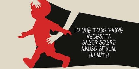 Prevención Abuso Sexual Infantil boletos