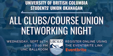 UBCSUO All Clubs/Course Union Networking Night tickets