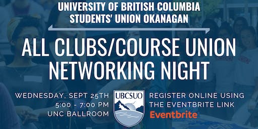 UBCSUO All Clubs/Course Union Networking Night