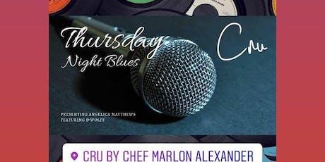 Cocktails & Dinner Delta Blues set @ Cru Raw & Bubble  tickets