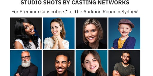 Casting Networks Headshot Sessions August 26 - Sydney