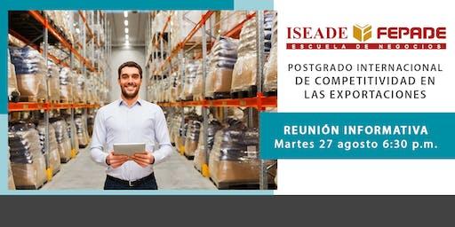 Reunión Postgrado Internacional de Competitividad en las Exportaciones