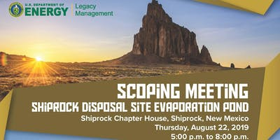 U.S. Department of Energy to discuss Shiprock evaporation pond