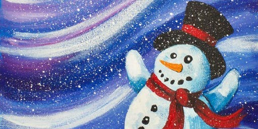 Winter (Snowman) Themed Paint & Sip