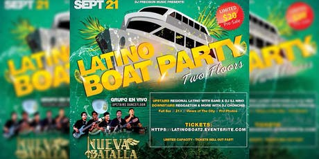 Latino Boat Party With Band 2 tickets