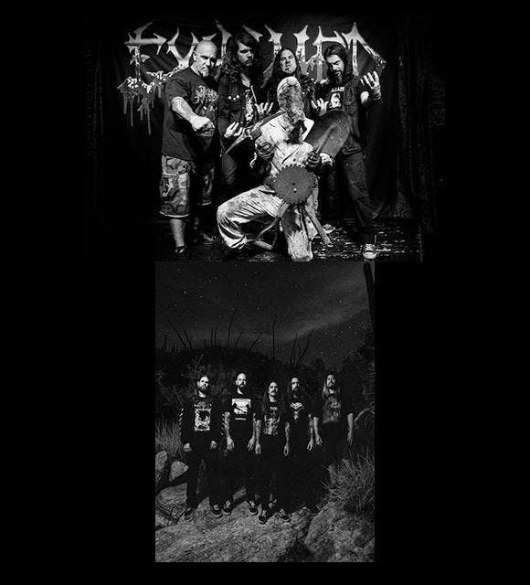 Exhumed + Gatecreeper with Necrot,  Judiciary and Skeleton