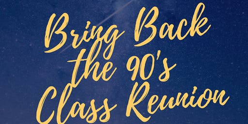 "HCSHS Classes of 1991-93 Present ""Bring back the 90's Reunion Weekend."""