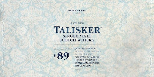 "Talisker Scotch Whisky ""Made by the Sea"" Degustation"