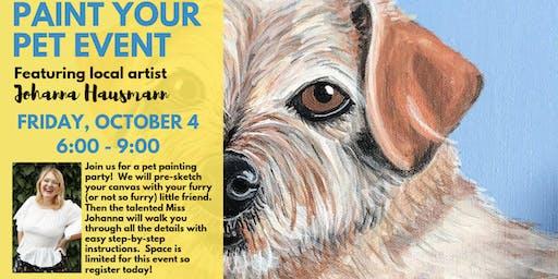 Paint Your Pet Event