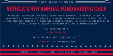 VETOGA's 4th Annual Fundraising Gala  tickets