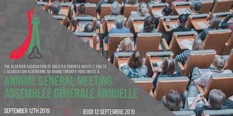 Annual General Meeting | Assemblée générale annuelle tickets